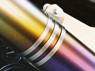 RSY Little Bomb Rainbow 鈦合金全段排氣管用 消音器束環
