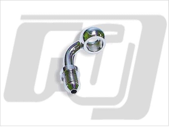 油管接頭 3/8(10mm) 90度 (電鍍)