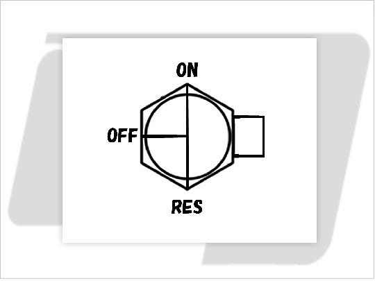 【GUTS CHROME】3/8 NPT 六角型油杯開關90度 (直) - 「Webike-摩托百貨」