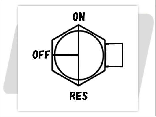 【GUTS CHROME】13/16 NPT 六角型油杯開關90度 (直) - 「Webike-摩托百貨」
