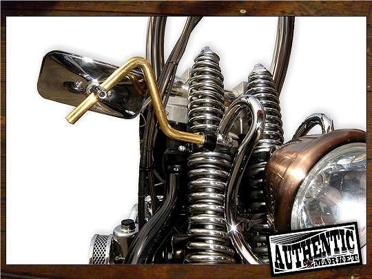 【GUTS CHROME】Springer前叉用 Brass Stem 圓型後視鏡 - 「Webike-摩托百貨」
