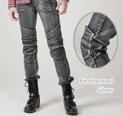 MOTO PANTS FEATHERBED 牛仔車褲