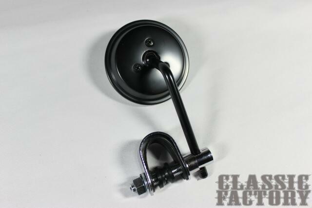 3吋夾鉗式圓型後視鏡( 黑)