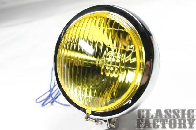 Thin Bates 頭燈 (黃色/電鍍)