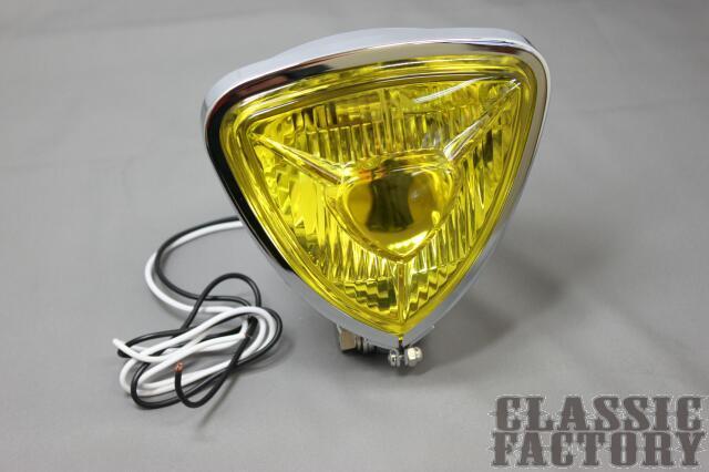 Thin Triangle Bates 頭燈 (黃色/電鍍)