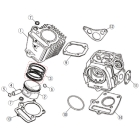 DAYTONA [Share Spare Parts] Piston Ring Set Φ52mm (88cc)