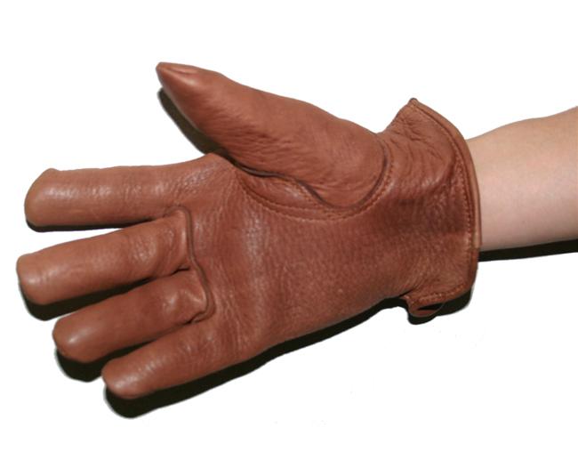 【HEAVY】鹿皮手套棉質內襯 冬用 (棕)