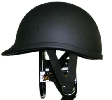 獨創裝飾用半罩安全帽(Jockey) 霧黑色