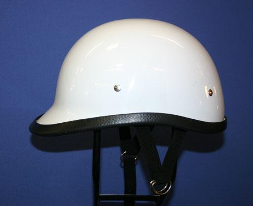 獨創裝飾用半罩安全帽(Jockey)白色