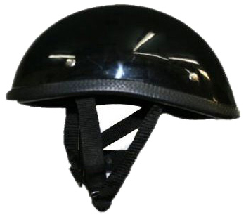 獨創裝飾用半罩安全帽(Ducktail) 黑色