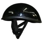 【MOTOBLUEZ】獨創裝飾用半罩安全帽(Ducktail) 黑色