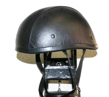 獨創裝飾用皮革半罩安全帽(Eagle)