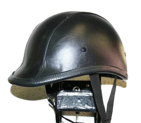 [Large Size] 獨創裝飾用皮革半罩安全帽(Jockey)