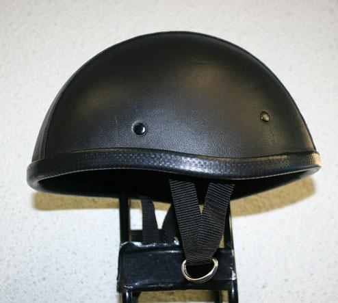 獨創裝飾用皮革半罩安全帽(Smoky)