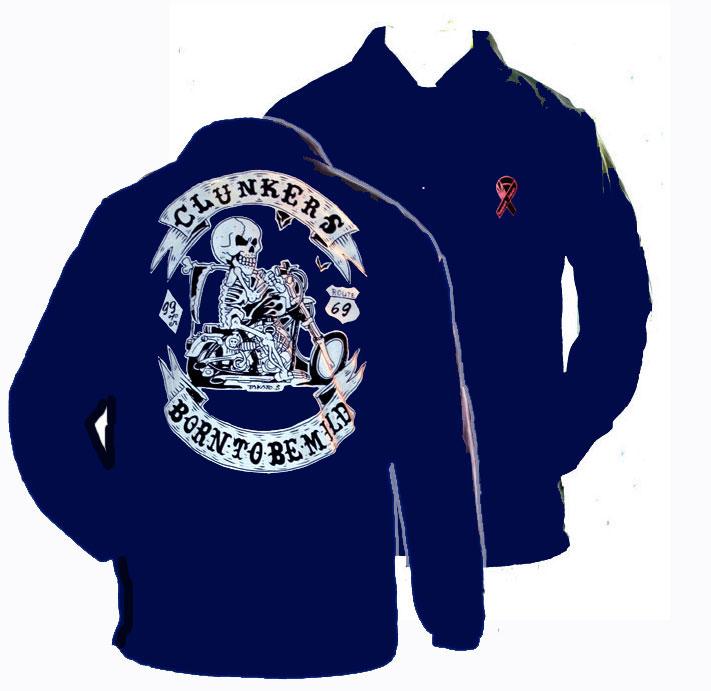 【HEAVY】Motobluez原廠Charity Coach外套(BORN TO BE MILD) 海軍藍