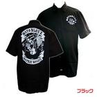 【MOTOBLUEZ】【HEAVY】Motobluez15周年原廠短袖工作衫(NO PRAY NO LIFE) (黑)
