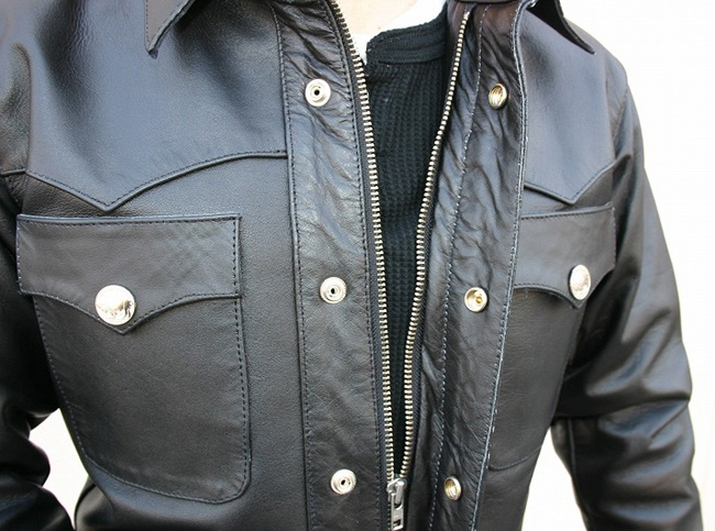 【MOTOBLUEZ】【HEAVY RED LABEL】水牛皮革襯衫(Buffalo Snap) - 「Webike-摩托百貨」
