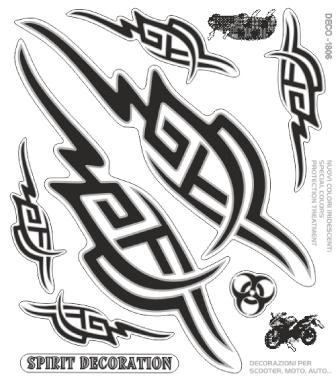 圖騰印刷裝飾貼組