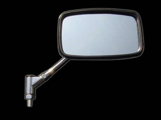 【RISE CORPORATION】(電鍍)角型短支架後視鏡(10mm) - 「Webike-摩托百貨」