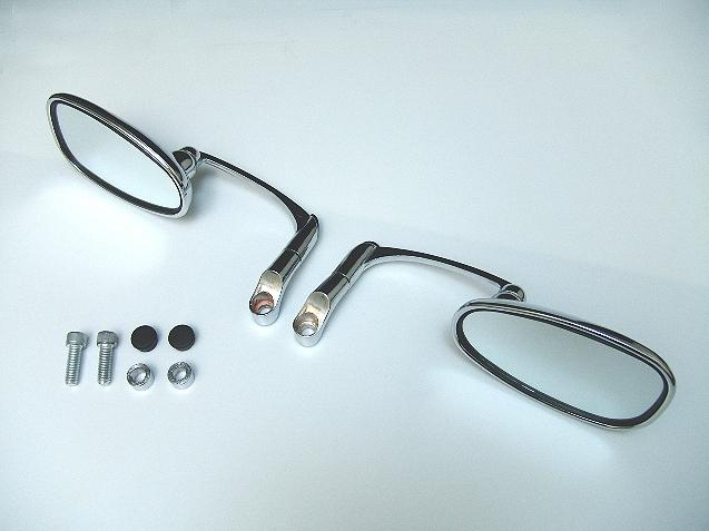 【RISE CORPORATION】(電鍍)丸型壓印墊板後視鏡(10mm) - 「Webike-摩托百貨」