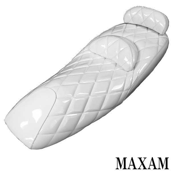 鑽石切割型 白 琺瑯坐墊