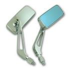 【RISE CORPORATION】(電鍍)細方型 藍色後視鏡 (10mm)
