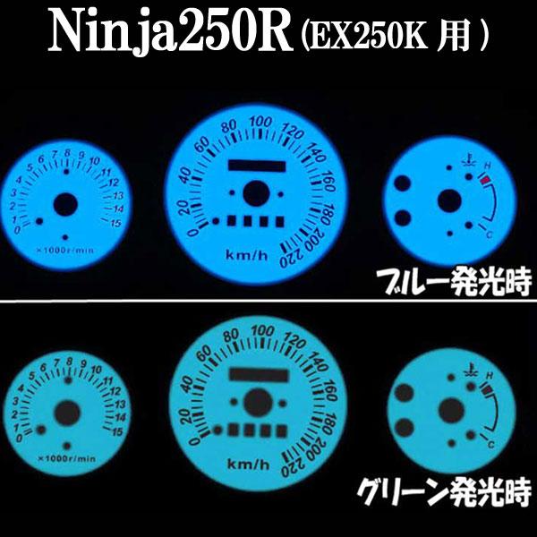 Ninja250R用儀表板發光片