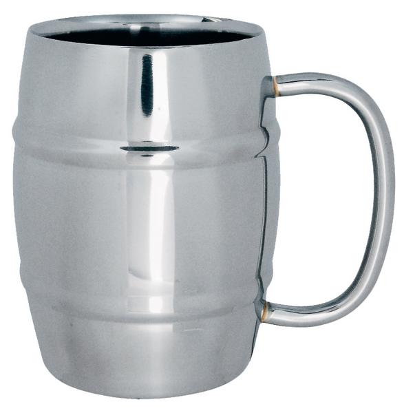 Double不銹鋼馬克杯 樽型400ml
