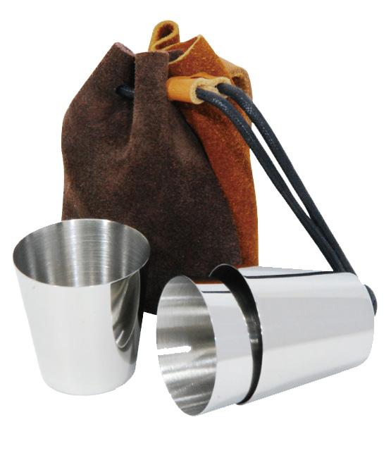 不銹鋼杯3入 含束口小袋子