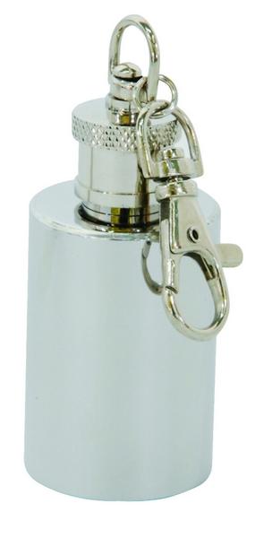 Skittle 不銹鋼 鑰匙圈丸型酒壺1oz