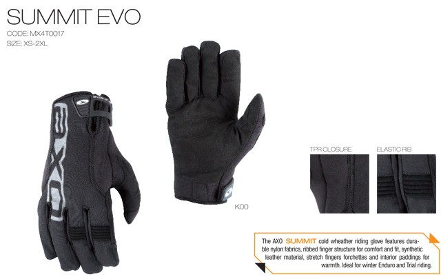 【AXO】冬季手套「SUMMIT EVO」 - 「Webike-摩托百貨」