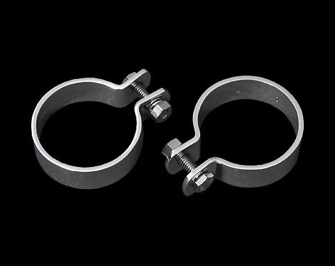 2吋 排氣管固定夾(吊環)組套 (鍍鉻)