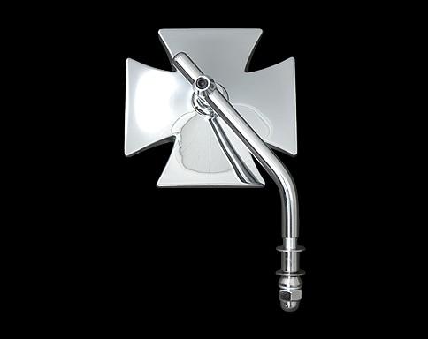 可調式短柄十字型後視鏡 (鍍鉻)