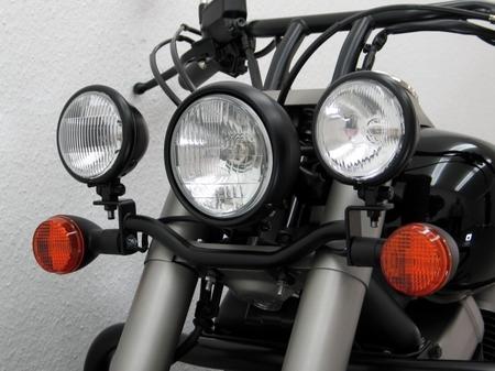 輔助燈支架 (頭燈改裝用 黑色)