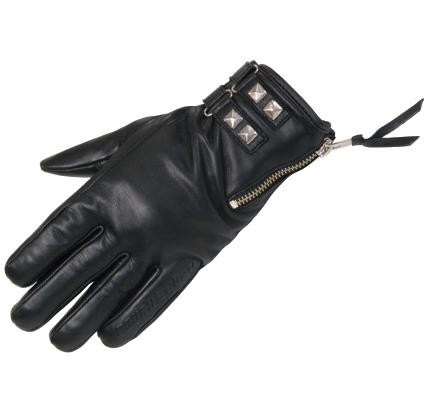冬季拉鍊皮革手套
