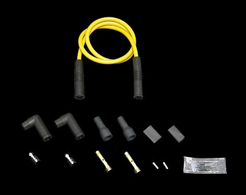 火星塞接頭含矽導線 8.8mm  銅芯線 (通用型 可調整角度接頭)
