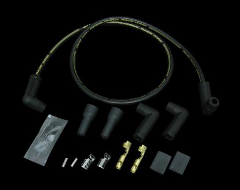 300+火星塞接頭含矽導線 (通用型 90度 接頭)