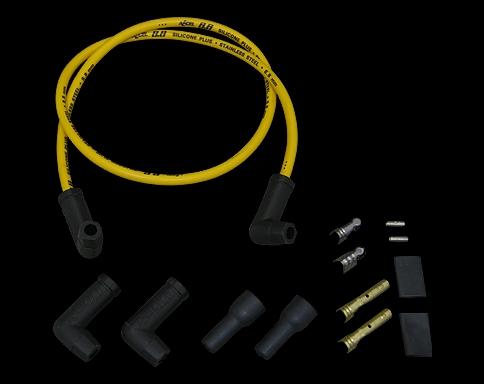 火星塞接頭含矽導線 8.8mm  銅芯線 (通用型 90度接頭)