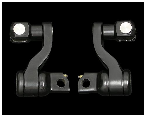 平板型 可調式腳踏桿支架組 (黑色)