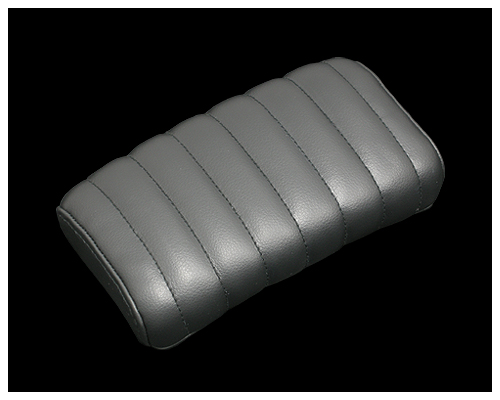 42mm 横向毛毛蟲後座坐墊 (黑)