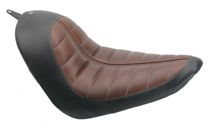 200mm 輪胎用 單坐墊 (ENZO 咖啡色&黑色)