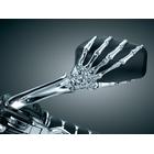 【kuryakyn】Skeleton Hand 後視鏡 (鍍鉻鏡桿)