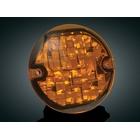 【kuryakyn】3-1/4吋 LED前方向燈單體(琥珀色燈殼)