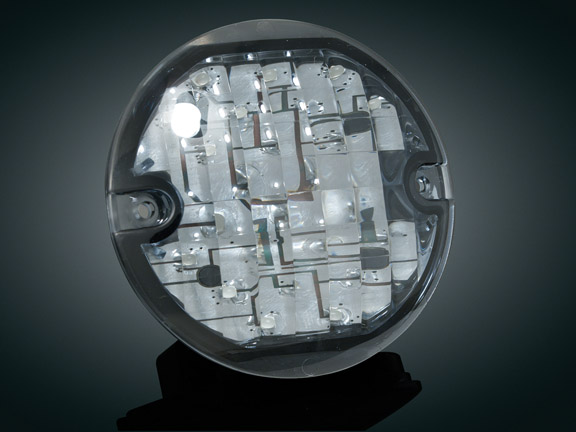 3-1/4吋 LED前方向燈單體(燻黑色燈殼)