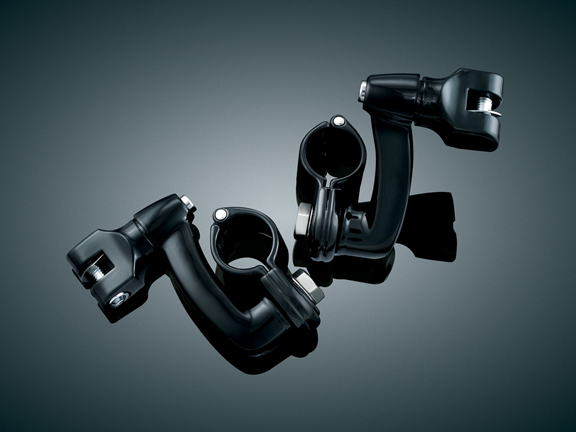 1-1/4吋 加長偏移型踏板固定座 (黑色)