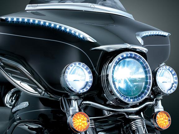 【kuryakyn】5-3/4吋 頭燈用 LED邊框 (Pinch Bolt) - 「Webike-摩托百貨」