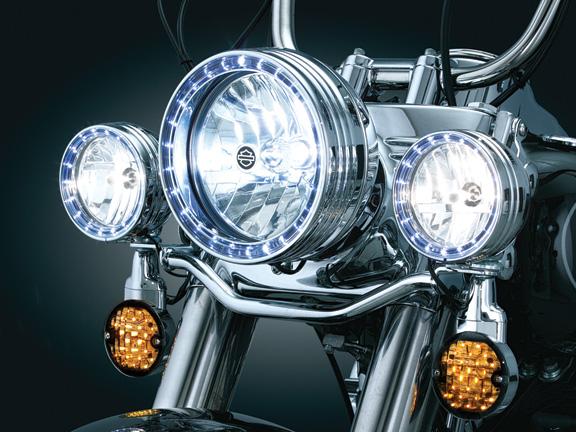 【kuryakyn】7吋頭燈用 LED 光圈飾環 - 「Webike-摩托百貨」