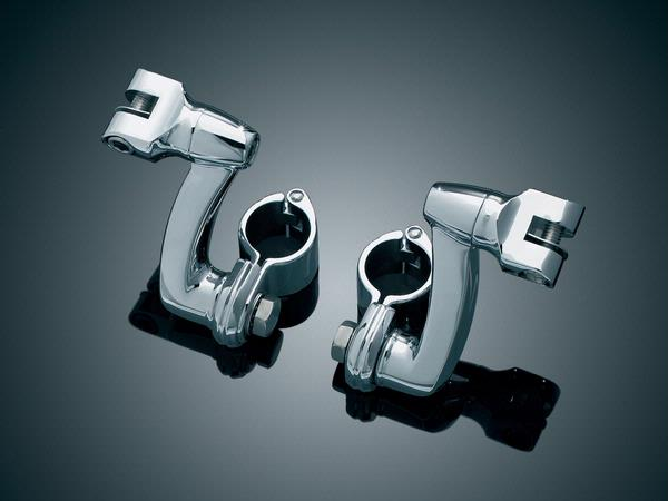 1-1/2吋 加長偏移型踏板固定座 (鍍鉻)