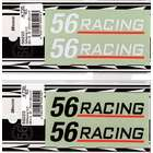 【56design】56Racing標誌貼紙 85X18  一組兩張