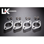 U-KANAYA Aluminum machine cut out Exhaust flange [ ZRX 1100 : ZRX 1200 : ZRX 1200 DAEG [] Only]